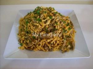 Pasta with Stroganoff Sauce