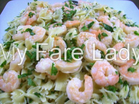Pasta with Garlic Prawns (2)