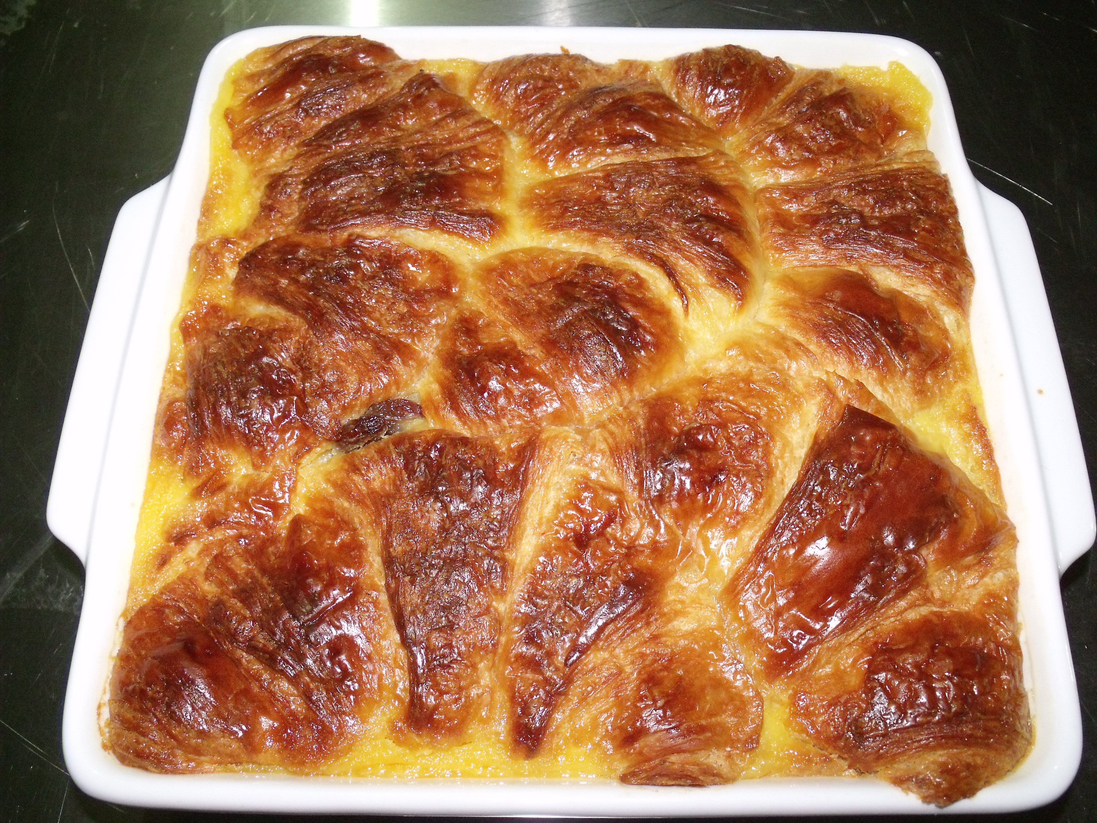 roast beef croissant individual croissant bread pudding s with dried ...